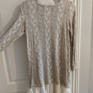 Cable Knit PRINT Dress